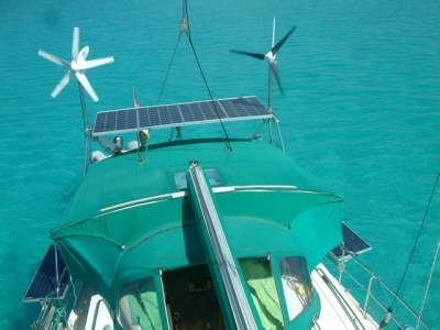 4 solar panels and 1 wind generator new 2010